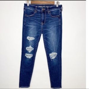 American Eagle Distressed Jegging Size 6S